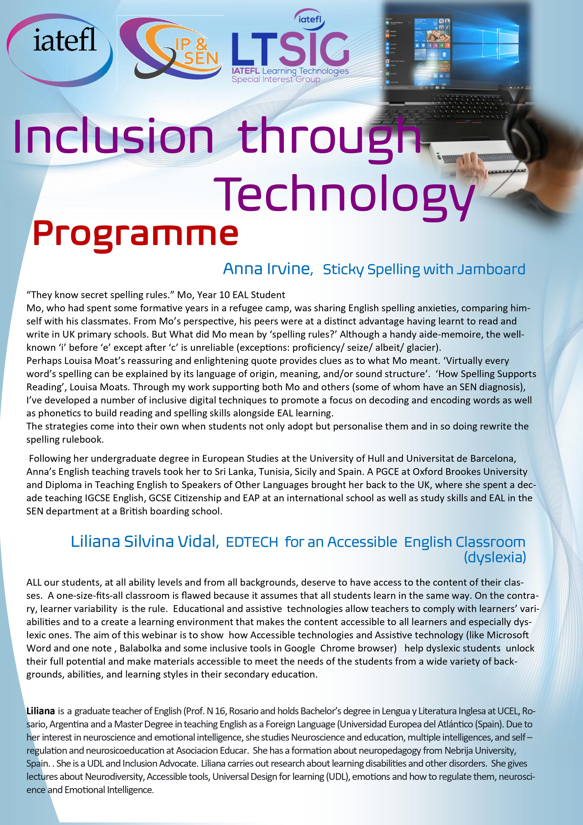 Inclusion through Technology