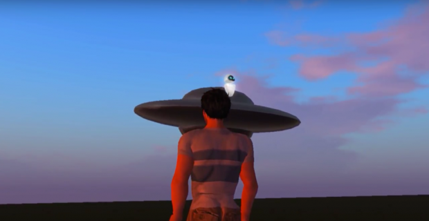 Figure 1. Screenshot of the machinima entitled 'The Solar System'
