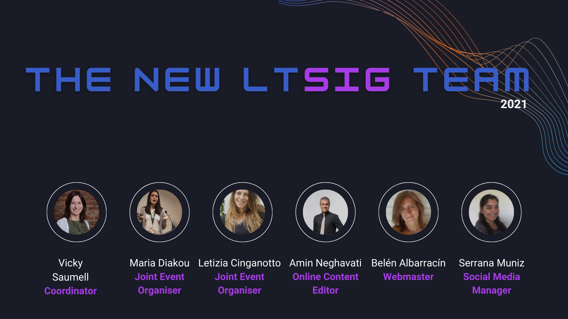Welcome the New LTSIG Committe…