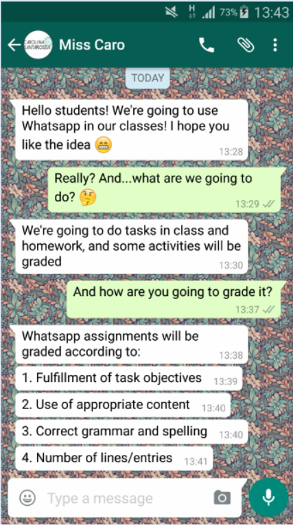 WHAT'S UP IN THE CLASSROOM? WHATSAPP! | LTSIG
